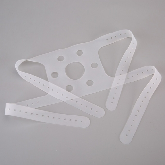 Reusable silicone head harness